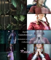 Aerith Gainsborough: Animation vs Cosplay by Ansuchi