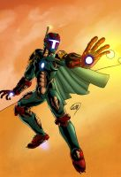 The Invincible Iron Fett - color! by ZethKeeper
