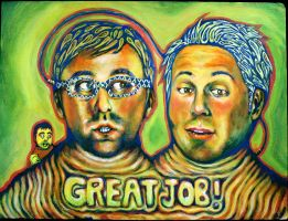 tim and eric awesome painting by neodalion