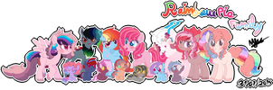 Rainbow Dash x Pinkie Pie Family by karsisMF97