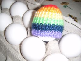 Rainbow Egg Hat by Ambrosial-Wolf