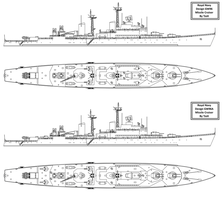 Design GW96 / GW96A Missile Cruiser by Tzoli