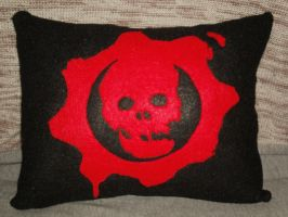 Gears of War Pillow by Rorschach94
