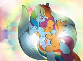 Scootaloo and Dashie a happy ending by V-D-K