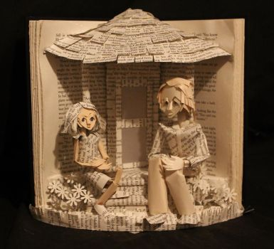 Scout and Boo Book Sculpture by wetcanvas