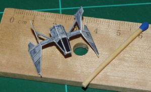Sith Fighter - Star Wars miniature by SarienSpiderDroid