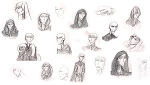 Voldemort sketches by SrLunatico