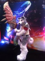 Koromaru Fursuit at NYCC 2013 by Take-Mono
