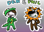 Dan and Phil: Costume Edition by ThePlatypusNimrod
