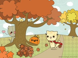 autumn wallpaper by pronouncedyou