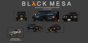 Black Mesa Security SUV - Updated by Deathbymodding
