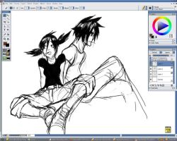 Juan and Lizzie - WIP by scrotumnose