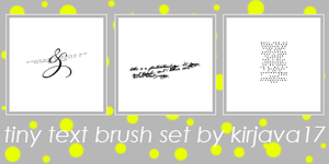 Tiny Text Brush Set 2 by kirjava17