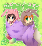 Chibi Easter Anniversary by lunatic-neko