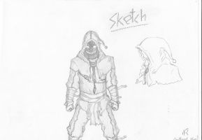 the first of six: Sketch, the trixter... by This-Shattered-Mind