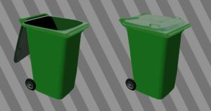 Wheelie Bin Recycle Icon by JollyGreenJustin