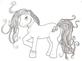 My Little Hippie Pony by deenis