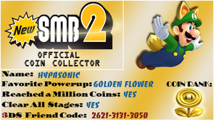 NSMB 2: Coin Collector Card by HypaSonic