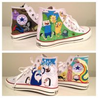 Adventure Time Sneakers by breathless-ness