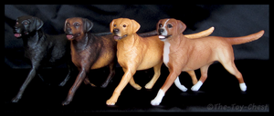 Breyer Companion Animals - Labrador Retrievers by The-Toy-Chest