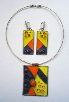 Necklace and earrings by emiliasforza
