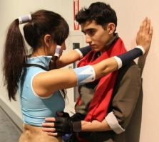 Korra makes a move on Mako by Tathanor