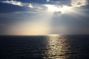 Ray Over Calm Seas by Mikelfurey