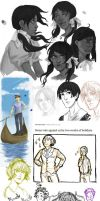 Bits and Bobs - (Hetalia sketch heap) by Zieberich