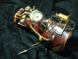 Watchman steampunk cuff by Skinz-N-Hydez