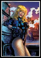 Black Canary Color by GiuliaPriori