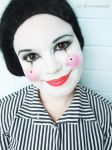 Makeup - Happy Mime by Bittersweet12