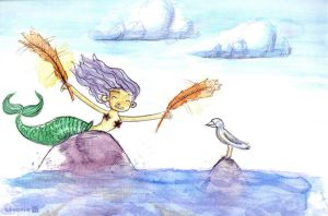 a mermaid's dream- tRuCciE by childrensillustrator