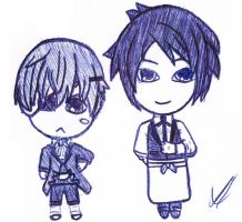 Chibi Sebby and Chubby Ciel by TokyoSquid