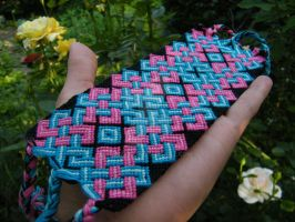 Pink-Blue gigant celtic bracelet by Teszugi