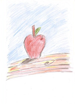 Apple on a table re done by HalfInane-HalfMental