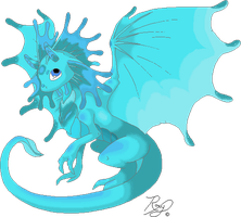Light Blue Dragon Adoptable CLOSED by JEricaM