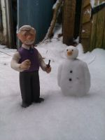 Mr. Prigley and the Snowman by frasierdalek