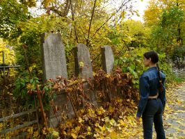 Lara Croft - Aichard cemetery by TanyaCroft