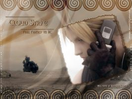 Cloud strife brown walle by areemus
