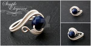 Navy blue agate ring by simple-elegance