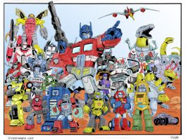 Autobots Roll Out by cajunthief