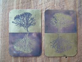 Tree of Life ATC by creativeetching