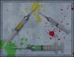 Poseable Syringes by deexie