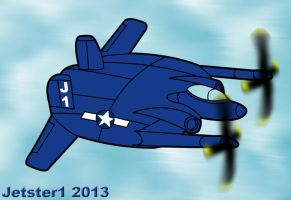 Vought XF5U Toon by Jetster1