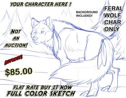 SOLD - ych Wolf by lady-cybercat