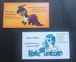 Second Chance Artwork business cards by Snetri