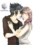 Commission Noctis and Lightning for MeRryX3108 by Owlteria