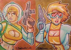 Heavenly Bodies Sketch Cards by BillMcKay
