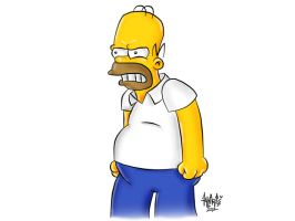 Homer Simpson by aalcaraz78