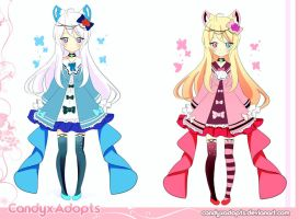 Kemonomimis Blue and Pink Auction.2/2 OPEN by CandyxAdopts